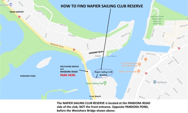 How to find Napier Sailing Club reserve on Pandora Pond_LI